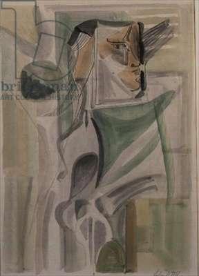 Woman by Window (w/c on paper)
