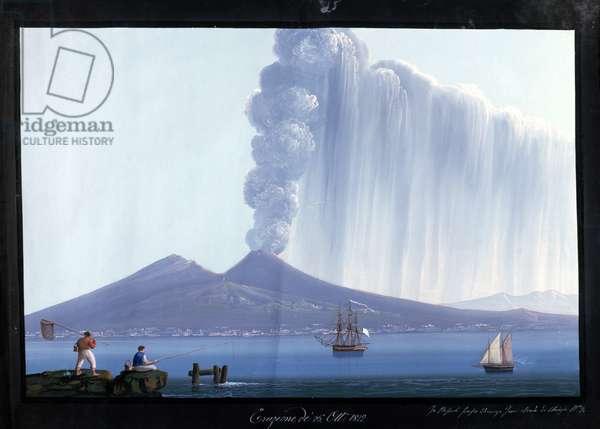 Naples: Vesuvius erupting, 26th October 1822 (gouache)