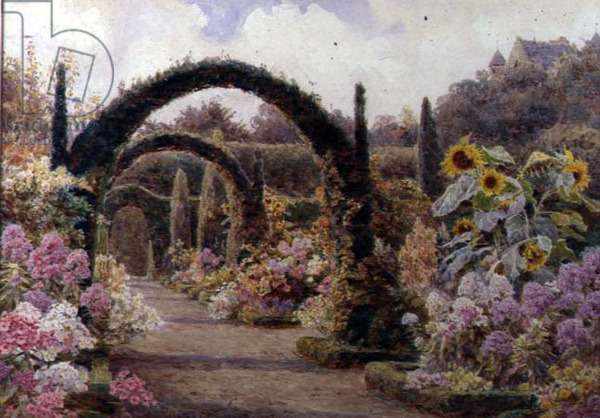 The Yew Arches, Murthly Castle, Perthshire, 1905 (w/c)