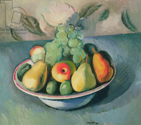 A Still Life of Fruit in a Bowl