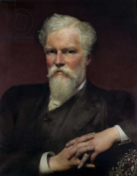 Portrait of Sir Alfred Waterhouse, 1891 (oil on canvas)