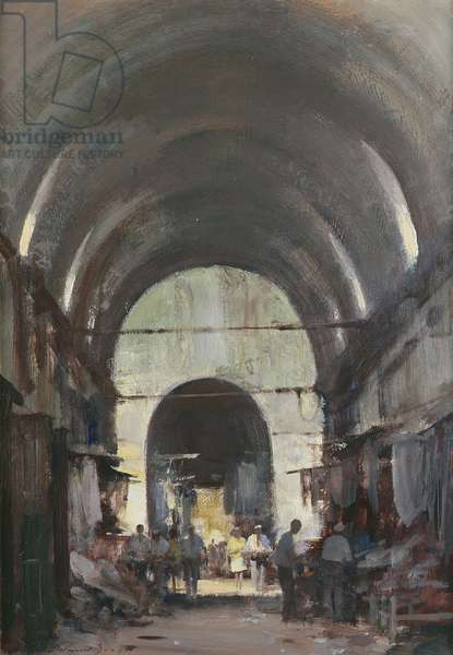 The Covered Market, Istanbul (oil on canvas)