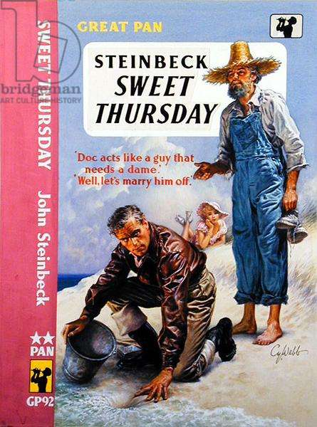 Front Cover of 'Sweet Thursday' by John Steinbeck (1902-68), design for a Pan Books paperback