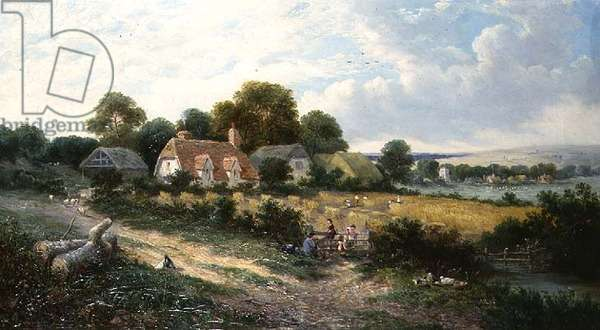 Haymaking (oil on canvas)
