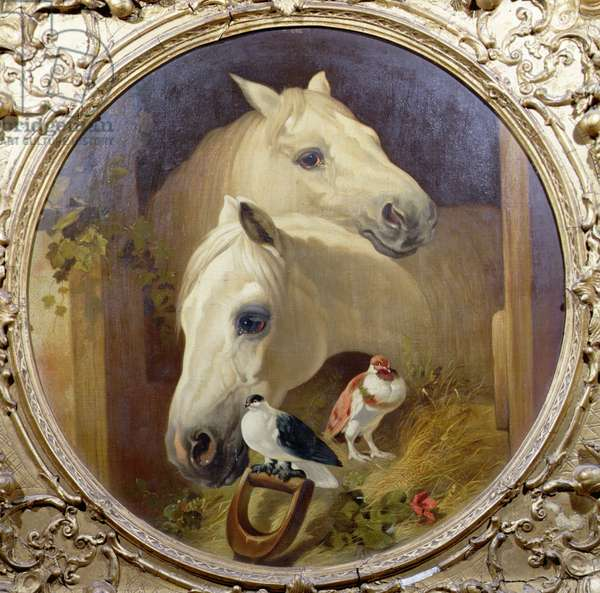 Horses by a Stable Door