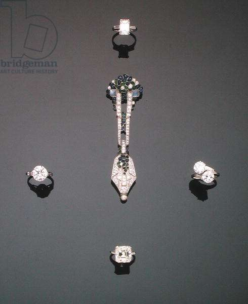 A selection of diamond jewellery