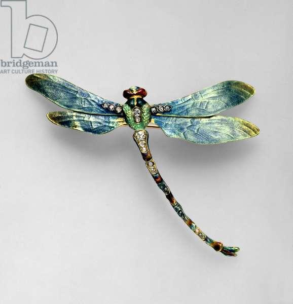 Dragonfly brooch, Paris, c.1900 (gold, diamonds and enamel)
