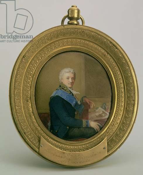 Portrait of Count Aleksandr Sergeevich Stroganov (1738-1811), 1806-7 (enamel on copper)