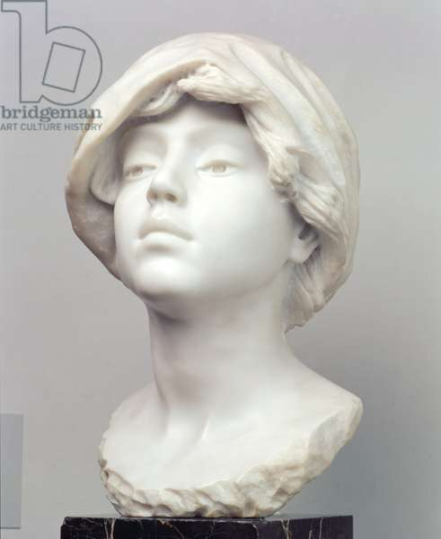 Young Girl in a Fichu, early 1890s (marble)