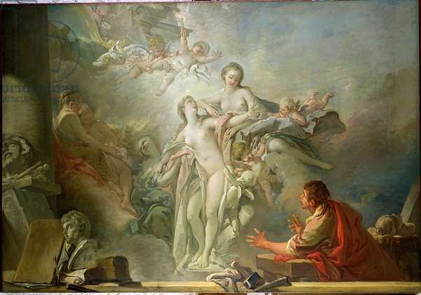 Pygmalion and Galatea (oil on canvas)