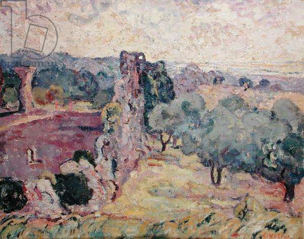 Landscape of the South of France, c.1908 (oil on canvas)