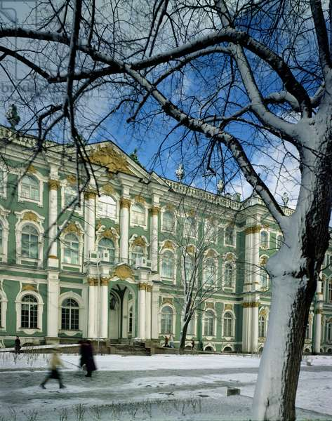 View of the south facade of the Winter Palace, from Palace Square, 1754-62 (photo)