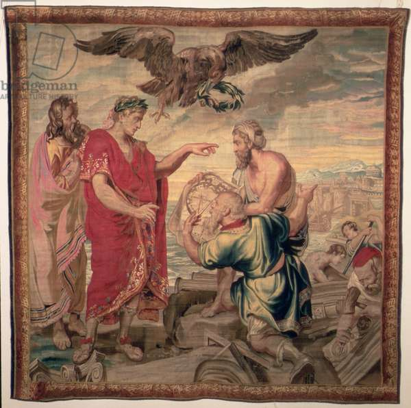 The Founding of Constantinople, from The History of Emperor Constantine series, Raphael de la Planche Factory, Paris, 1633-68 (tapestry)