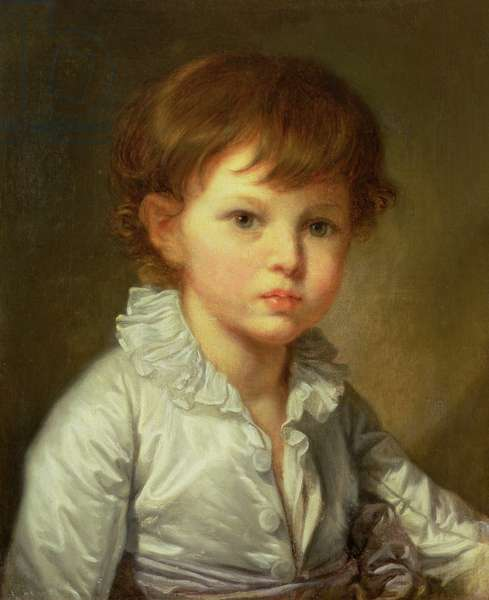 Portrait of Count Stroganov as a Child, 1778 (oil on canvas)