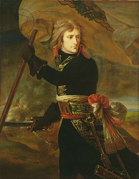 Napoleon I (1769-1821) on the Bridge of Arcole (oil on canvas)