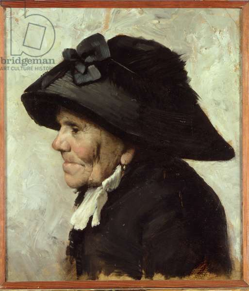 Study of the Head of an Old Woman, 1880s (oil)