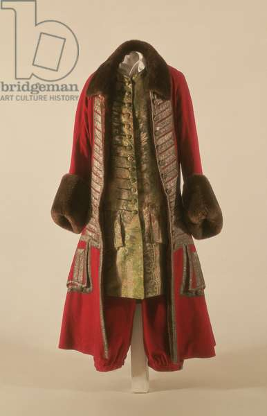 Winter outfit of Peter I, 1710-20 (woollen cloth and silk)