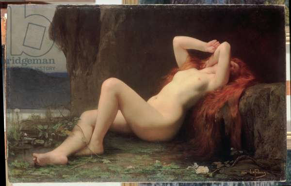 Mary Magdalene in the Cave, 1876 (oil on canvas)