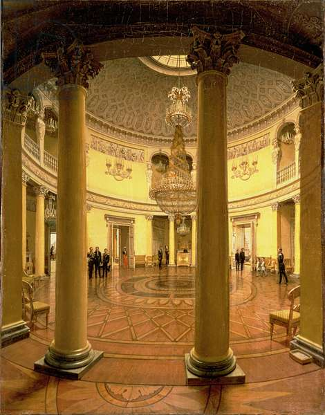 Interior of the Rotunda in the Winter Palace, 1834