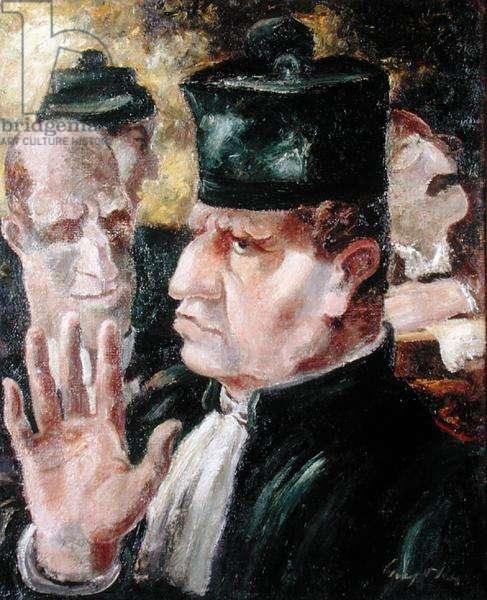 Court Scene (Palais de Justice), 1928 (oil on canvas)
