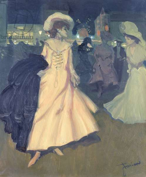 The Exit at the Moulin Rouge, 1901-2 (oil on canvas)