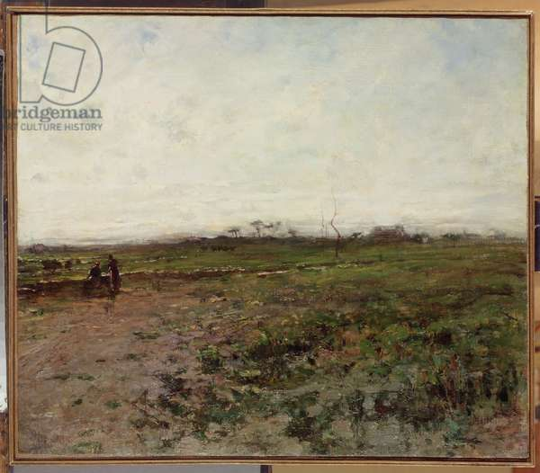 Landscape with a Peasant Woman, early 1870s (oil on canvas)