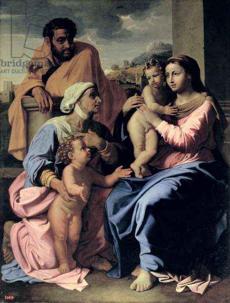 The Holy Family with St. Elizabeth and John the Baptist, 1655