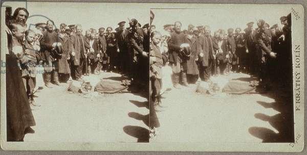Victims of the Khodynka Field Catastrophe, 18th May 1896 (b/w photo)