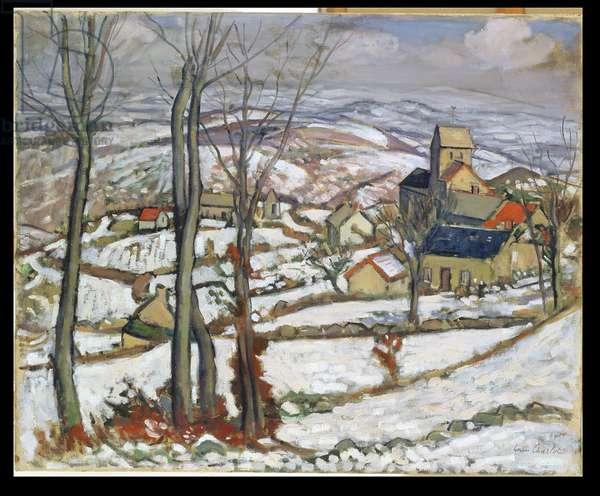 Village in the Snow, c.1910-11 (oil on canvas)