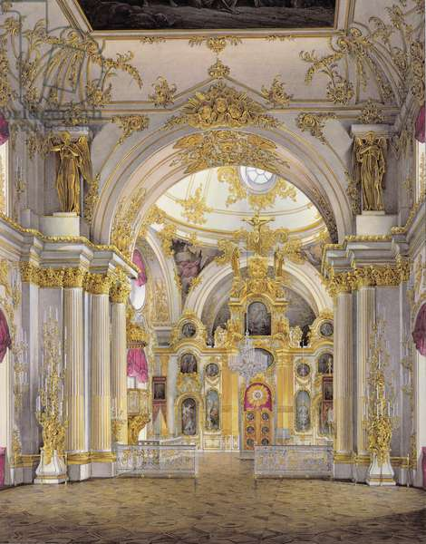 The Great Church, Winter Palace (colour litho)