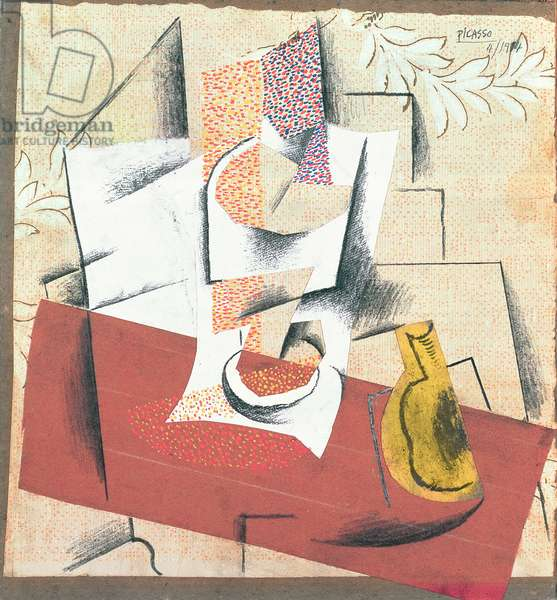 Composition with Cut Pear, 1914 (oil on canvas)