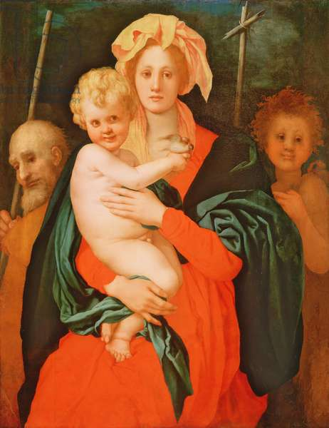 The Virgin and Child with St. Joseph and John the Baptist, 1521-27 (oil on canvas) (see also 80193)