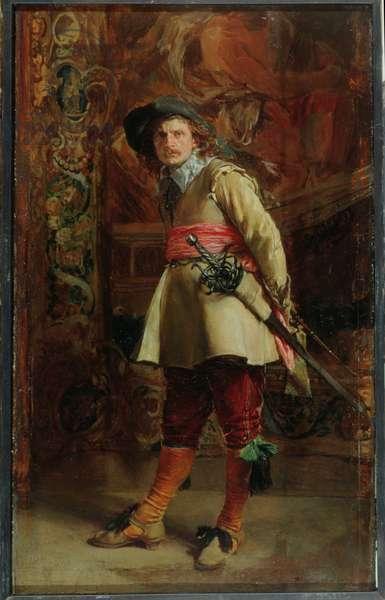 Musketeer, 1870 (oil on panel)