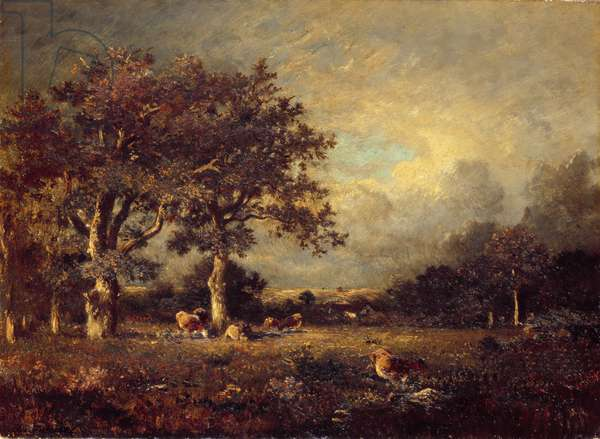 Landscape with Cows, 1870s (oil on canvas)
