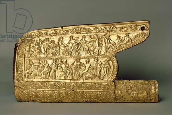 Quiver Fitting for bow and arrows, from Chertomlyk burial mound, Steppe, 4th century BC (gold)