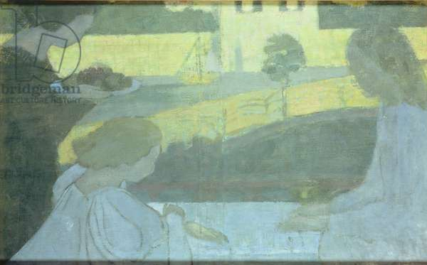 Martha and Mary, first version on the verso of the finished painting, 1896 (oil on canvas) (see 184139)