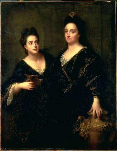 Portrait of Two Actresses, 1699