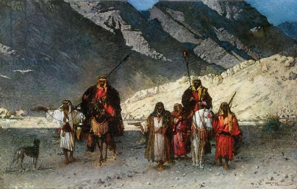 In the Mountains, 1870s (oil on canvas)