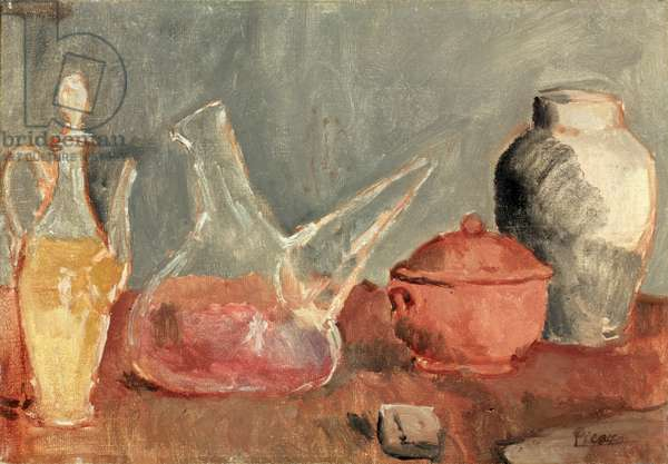 Glass Vessels, 1906 (oil on canvas)