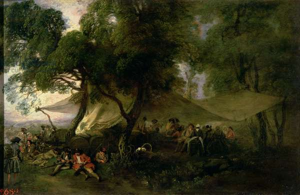 Respite from War, 1712-15 (oil on copper)
