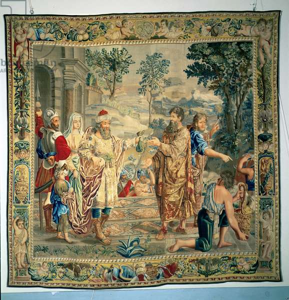 Abimlech returns Sarah to her husband Abraham, St. Petersburg, 1737-9 (tapestry)
