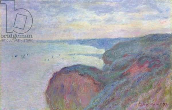 Cliffs near Dieppe, 1897 (oil on canvas)