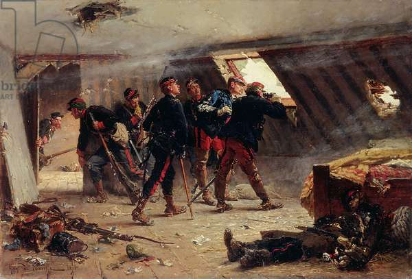 Episode from the Franco-Prussian War, 1875 (oil on canvas)