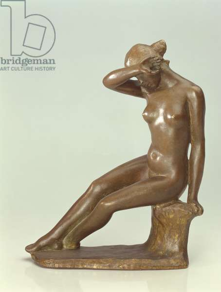 Woman Covering Her Face with Her Hand, 1900 (bronze)