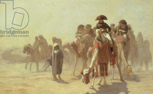 General Bonaparte with his Military Staff in Egypt, 1863 (pencil & oil on canvas)