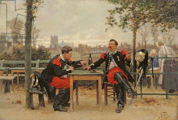The Commander's Feast, 1875 (oil on canvas)