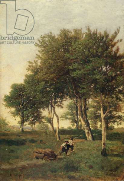 Landscape with Two Boys Carrying Firewood, 1894 (oil on canvas)