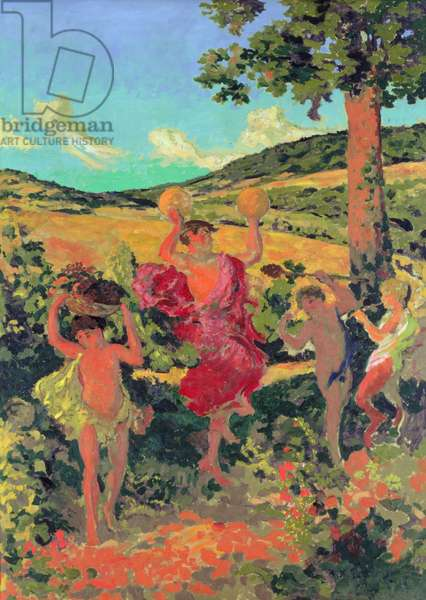 The Triumph of Bacchus (Fete Champetre), 1911-13 (oil on canvas)