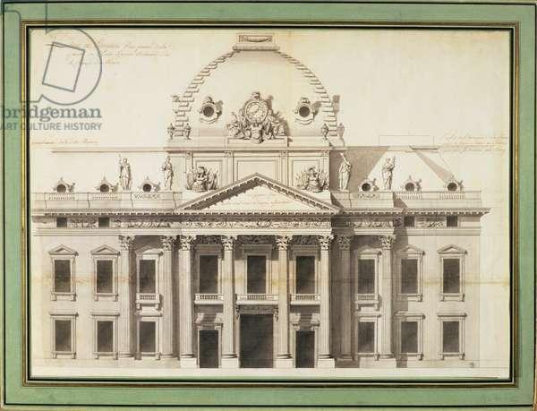 Design for the Ecole Militaire, Paris, 1751 (pen, brush, ink)