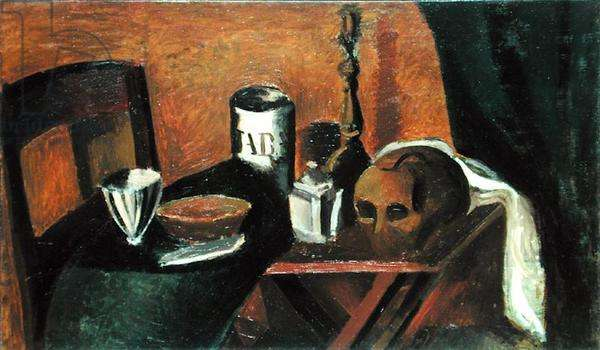 Still Life with Skull, 1912 (oil on canvas)